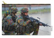 Belgian Infantry Soldiers In Training Carry-all Pouch by Luc De Jaeger