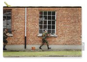 Belgian Soldiers On Patrol Carry-all Pouch by Luc De Jaeger