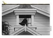 Bell Tower In Black And White Carry-all Pouch