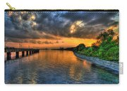 Sunset At Belle Isle Pier Detroit Mi Carry-all Pouch