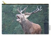 Bellowing Red Deer Stag Carry-all Pouch