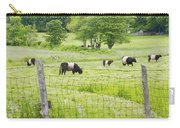 Belted Galloway Cows On  Farm Rockport Maine Photo Carry-all Pouch
