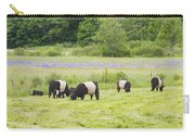 Belted Galloway Cows Pasture Rockport Maine Photograph Carry-all Pouch