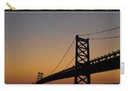Ben Franklin Bridge Sunrise Carry-all Pouch