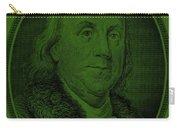 Ben Franklin In Dark Green Carry-all Pouch