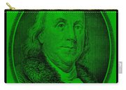 Ben Franklin In Green Carry-all Pouch