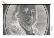 Ben Franklin In Negative Carry-all Pouch