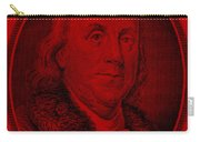 Ben Franklin In Red Carry-all Pouch