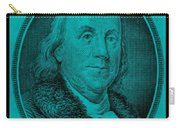 Ben Franklin In Turquois Carry-all Pouch