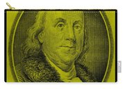 Ben Franklin In Yellow Carry-all Pouch