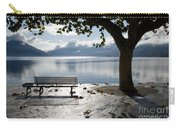 Bench And Tree On The Lakefront Carry-all Pouch