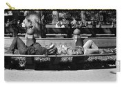 Bench Bums In Black And White Carry-all Pouch