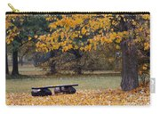 Bench In The Autumn Landscape Carry-all Pouch