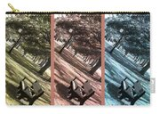 Bench In The Park Triptych  Carry-all Pouch by Susanne Van Hulst