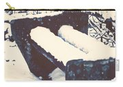 Bench With Snow Carry-all Pouch by Joana Kruse