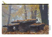 Benches And Table In Autumn Carry-all Pouch