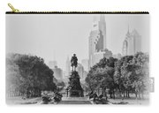 Benjamin Franklin Parkway In Black And White Carry-all Pouch by Bill Cannon