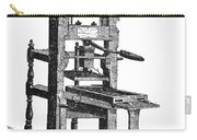 Benjamin Franklins Printing Press Carry-all Pouch
