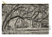 Bent Trees Sepia Toned Carry-all Pouch