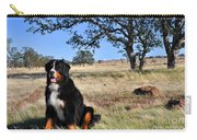Bernese Mountain Dog In California Chaparral Carry-all Pouch