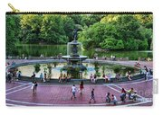 Bethesda Fountain Overlooking Central Park Pond Carry-all Pouch by Paul Ward