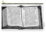 Bible, 19th Century Carry-all Pouch
