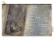 Bible Pages Carry-all Pouch