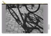 Bicycle Shadows In Black And White Carry-all Pouch
