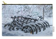 Bicycles In The Snow Carry-all Pouch