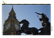 Big Ben And Boadicea Statue  Carry-all Pouch