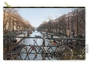Bikes On The Canal In Amsterdam Carry-all Pouch