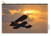 Biplane At Sunset Carry-all Pouch