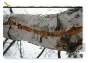 Birch Damaged In Ice Storm Carry-all Pouch