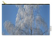 Birch In Frost. Carry-all Pouch