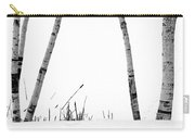 Birch Trees In Snow Carry-all Pouch