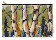 Birches Aglow By Prankearts Carry-all Pouch