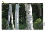 Birches On A Meadow Carry-all Pouch