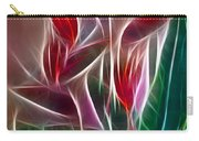Bird Of Paradise Fractal Panel 2 Carry-all Pouch