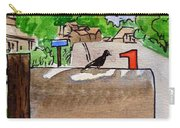 Bird On The Mailbox Sketchbook Project Down My Street Carry-all Pouch