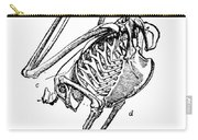 Bird Skeleton Carry-all Pouch