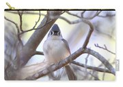 Bird - Tufted Titmouse - Busted Carry-all Pouch