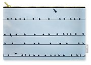 Birds On A Wire Carry-all Pouch