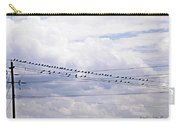 Birds On A Wire Pushed Carry-all Pouch