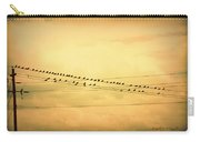Birds On A Wire Yellow Orange Carry-all Pouch