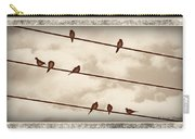 Birds On Wires Carry-all Pouch