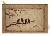 Birds Vintage Photo Beer Painting Carry-all Pouch