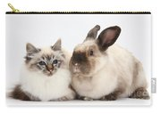 Birman Cat And Colorpoint Rabbit Carry-all Pouch