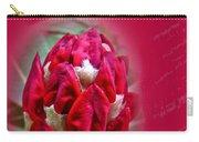 Birthday Card - Red Azalea Buds Carry-all Pouch