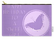 Birthday Girl Greeting Card - Mourning Cloak Butterfly Carry-all Pouch