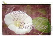 Birthday Greeting Card - Bindweed Morning Glory Carry-all Pouch